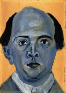 Arnold Schönberg, Autoritratto in blu (1905)